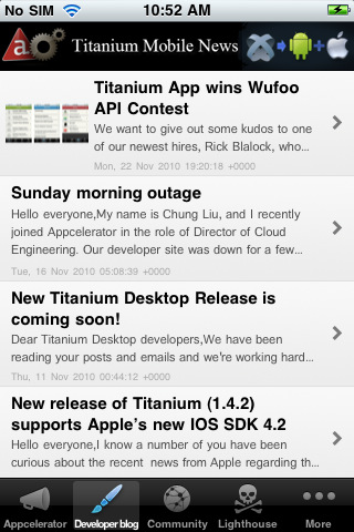 Titanium Mobile News